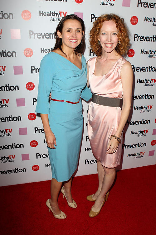 Vivian Cannon and Darlene Hunt at the Prevention Healthy TV Awards in California.