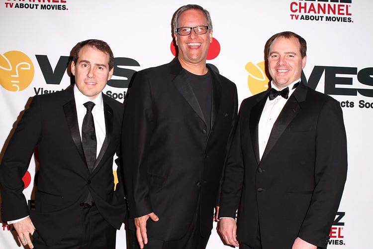 Teddy Newton, Kevin Reher and Tom Gately at the 9th Annual VES Awards.