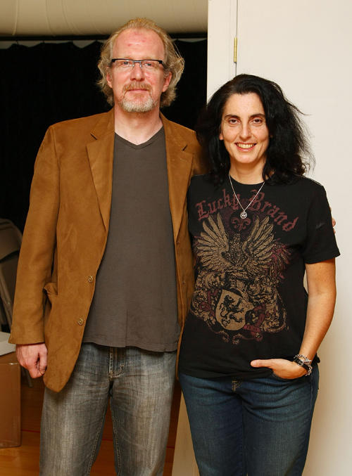 Tracy Letts and director Tina Landau at the Broadway photocall of