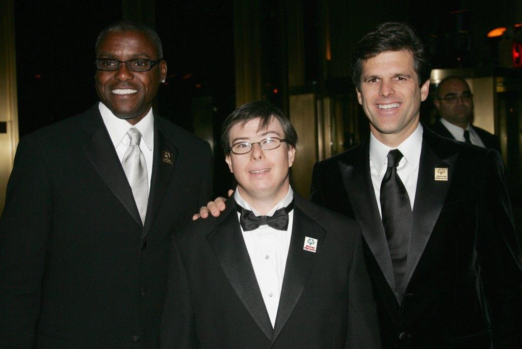 Carl Lewis, Timothy Schreiber and Guest at the Fashion Group International's 23rd Annual Night of Stars.