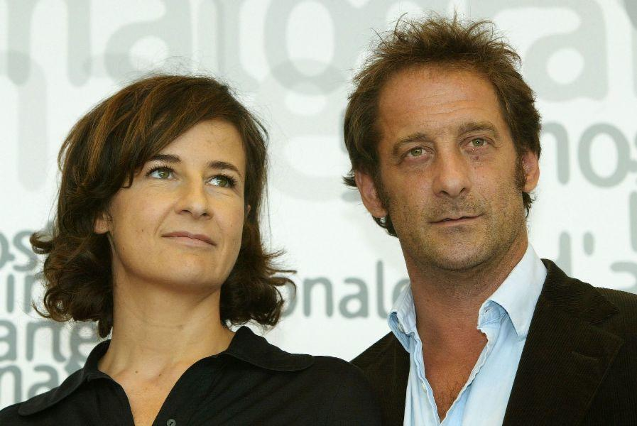 Valerie Lemercier and Vincent Lindon at the 59th Venice Film Festival.
