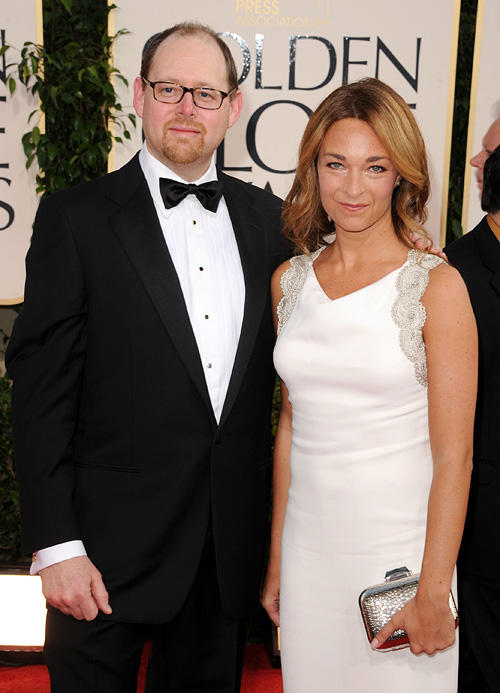 Celine Rattray and Guest at the 68th Annual Golden Globe Awards.