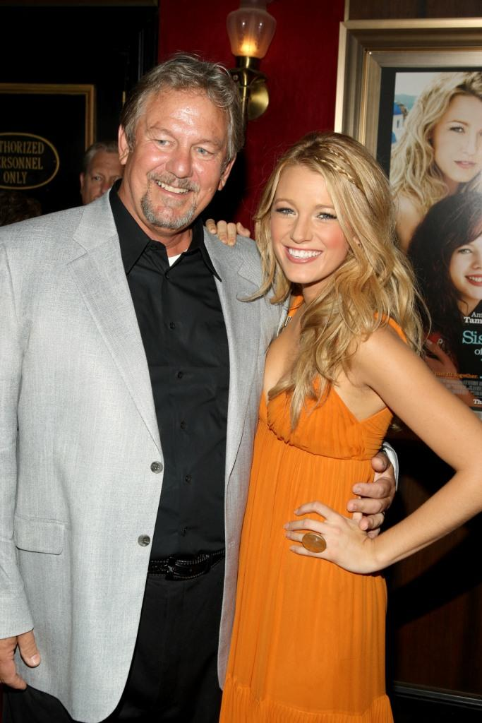 Ernie Lively and Blake Lively at the world premiere of