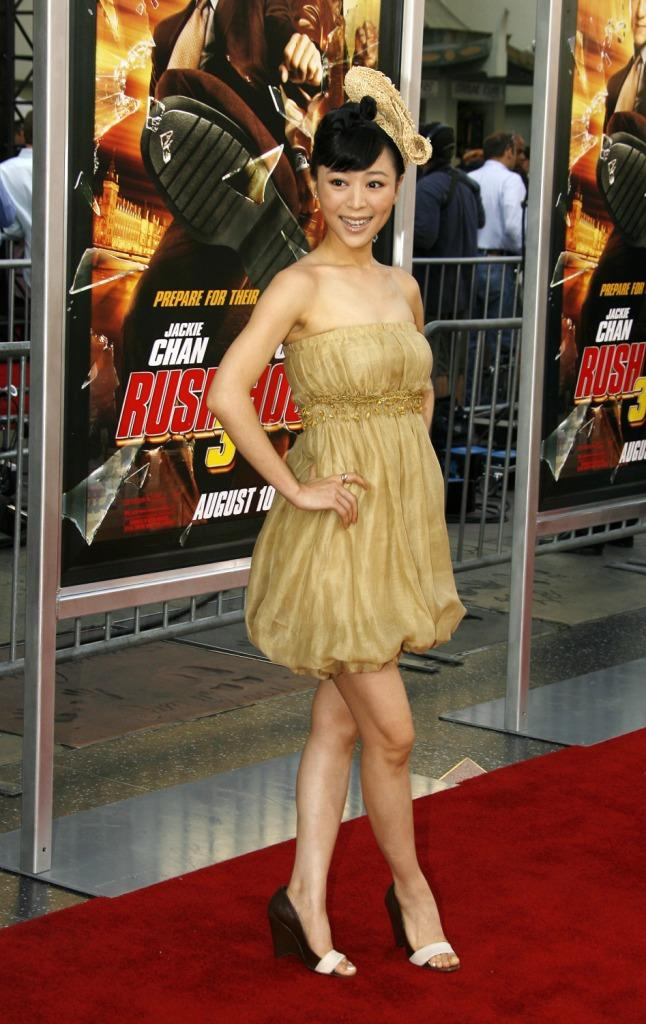 Zhang Jingchu at the premiere of