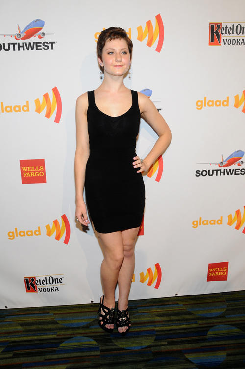 Jordan Todosey at the 23rd Annual GLAAD Media Awards in California.