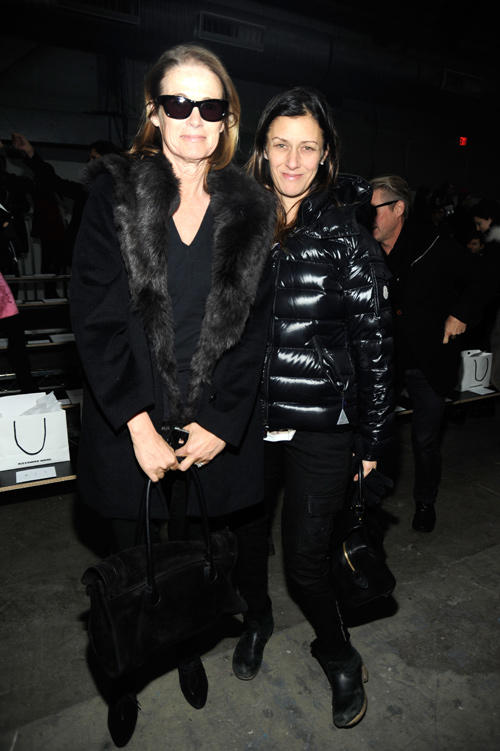 Lisa Love and Sally Singer at the Alexander Wang Fall 2012 fashion show during Mercedes-Benz Fashion Week in New York.