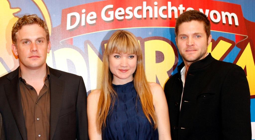 Sebastian Bezzel, Lisa-Maria Potthoff and Peter Ketnath at the German premiere of