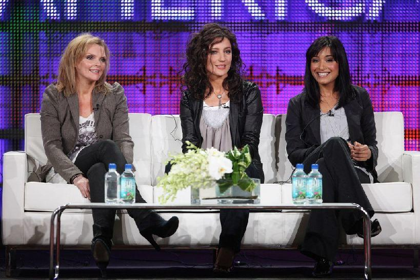 Sharon Small, Orla Brady and Shelley Conn at the BBC America portion of the 2009 Winter Television Critics Association Press Tour.