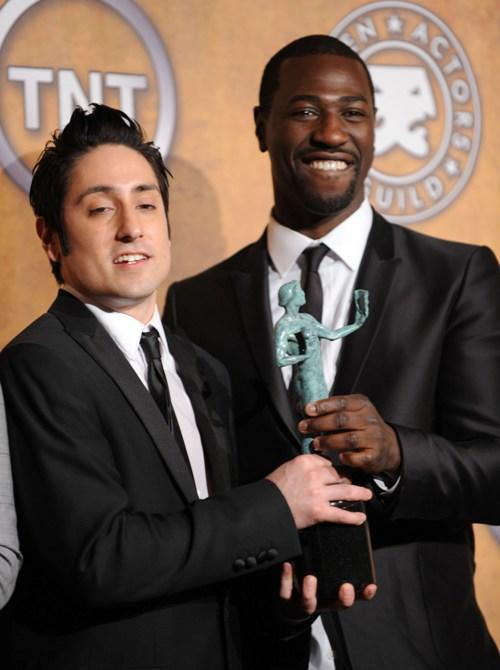 Omar Doom and Jacky Ido at the 16th Annual Screen Actors Guild Awards.