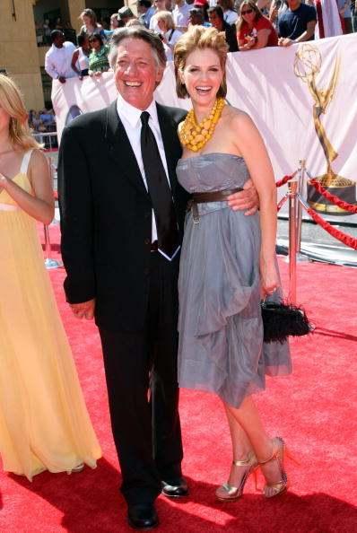 Megan Ward and Stephen Macht at the 35th Annual Daytime Emmy Awards.