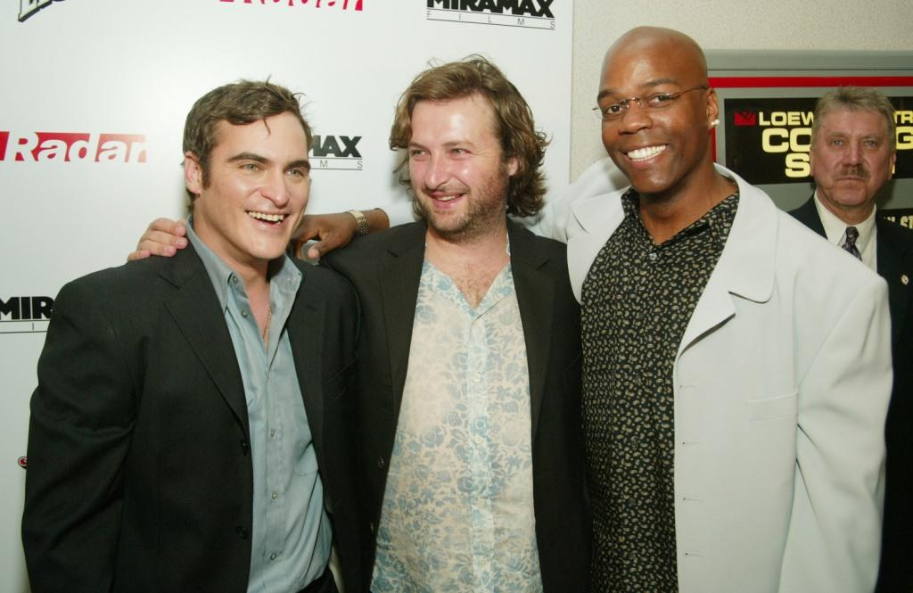 Joaquin Phoenix, director Gregor Jordan and Shiek Mahmud-Bey at the New York premiere of