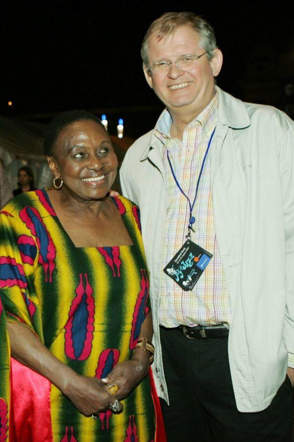 Miriam Makeba and Jacko Maree at the Standard Bank Joy of Jazz 2007.