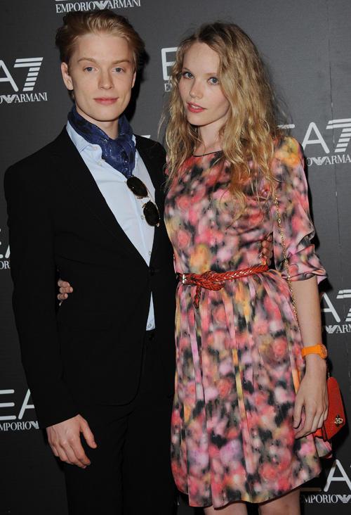 Freddie Fox and Tamzin Merchant at the Emporio Armani Summer Garden Live 2012 Party.