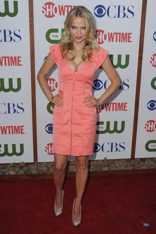 Mircea Monroe at the TCA Party for CBS in California.