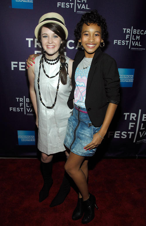 Savannah Stehlin and Sydney Park at the New York premiere of