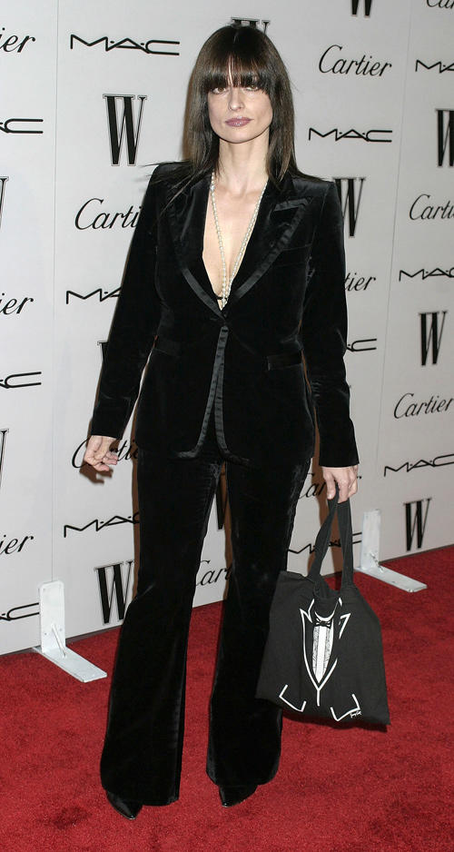 Lisa Marie at the W Magazine's Golden Globe Glamour Party in California.
