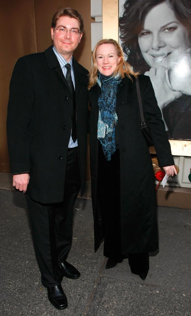 Kathleen Marshall and Guest at the Broadway opening of