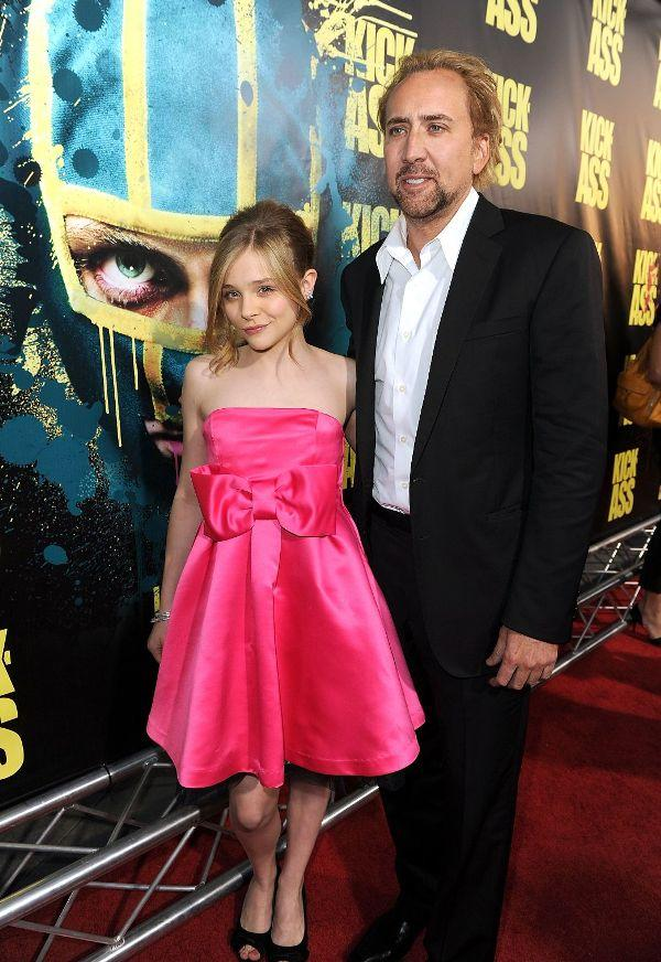 Chloe Grace Moretz and Nicolas Cage at the California premiere of