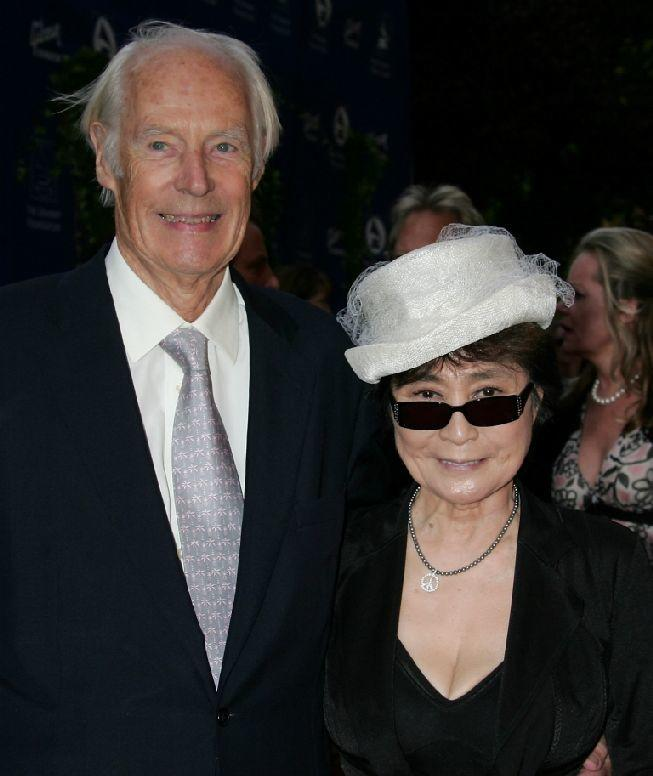 George Martin and Yoko Ono at the Grammy Foundation's
