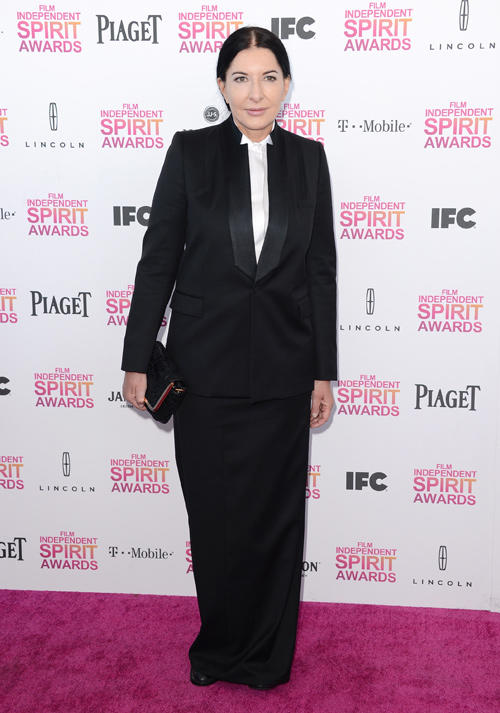 Marina Abramovic at the 2013 Film Independent Spirit Awards.