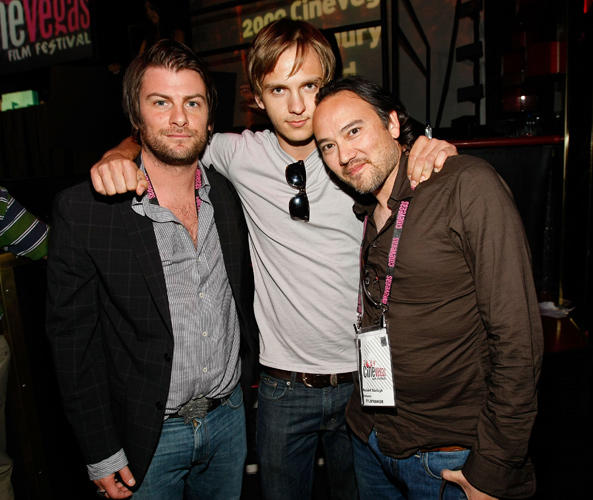 Joseph McKelheer, Cory Knauf and director Robert Saitzyk at the Honoree Awards Ceremony & Reception during the 2009 CineVegas Film Festival.