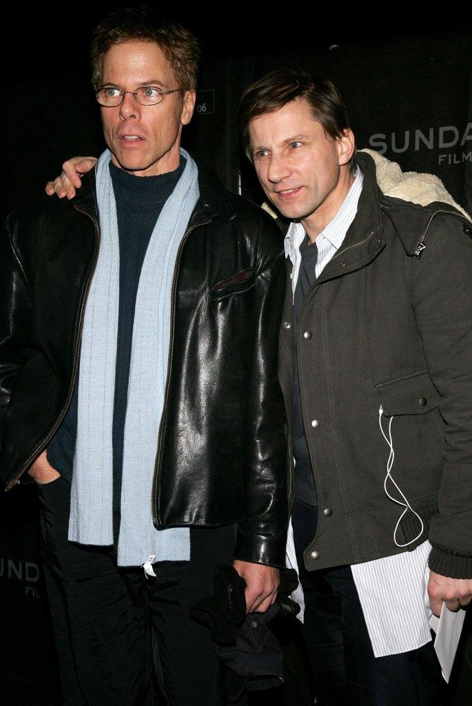 Greg Germann and Simon McBurney at the opening night premiere of