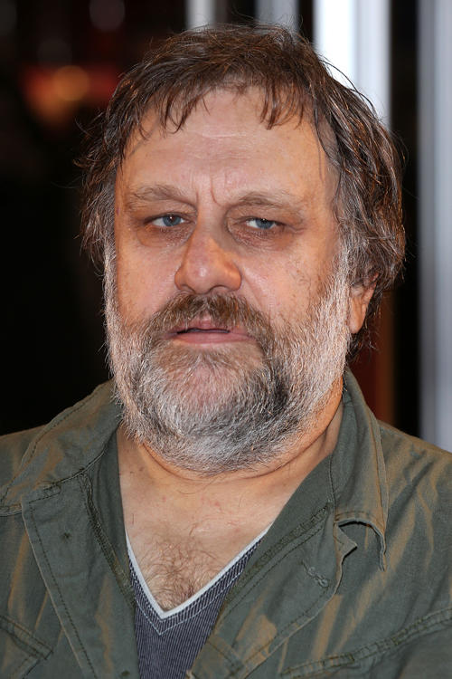 Slavoj Zizek at the England premiere of