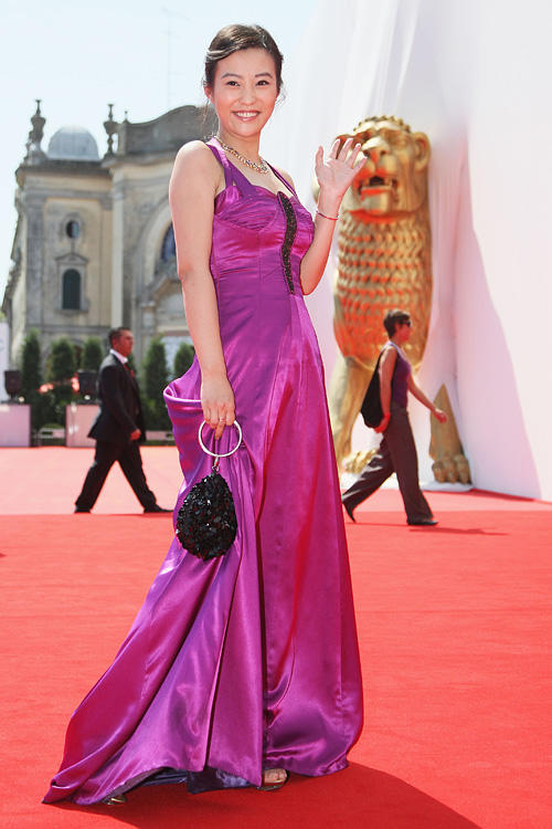 Hao Lei at the red carpet of the premiere of