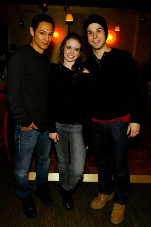 Michael Esparza, Phoebe Strole and Skylar Astin at the premiere of
