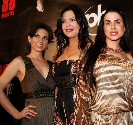 Leah Cairns, Christa Campbell and Tishara Cousino at the world premiere of
