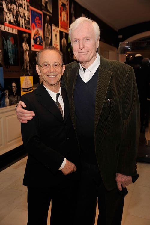 Joel Grey and John McMartin at the opening night reception for Joel Grey / A New York Life Exhibit in New York.