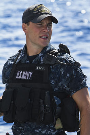 Taylor Kitsch as Alex Hopper in ``Battleship.''