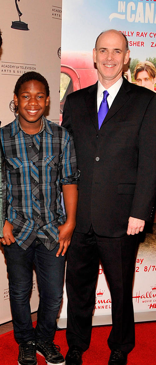 Jaishon Fisher and President & CEO Hallmark Channel Bill Abbott at the special sneak preview of