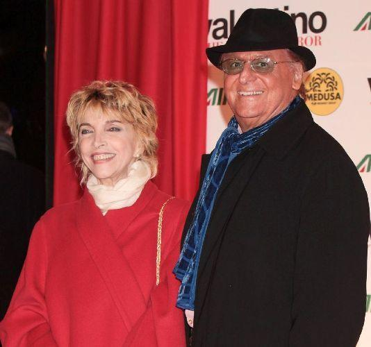 Mariangela Melato and Renzo Arbore at the premiere of