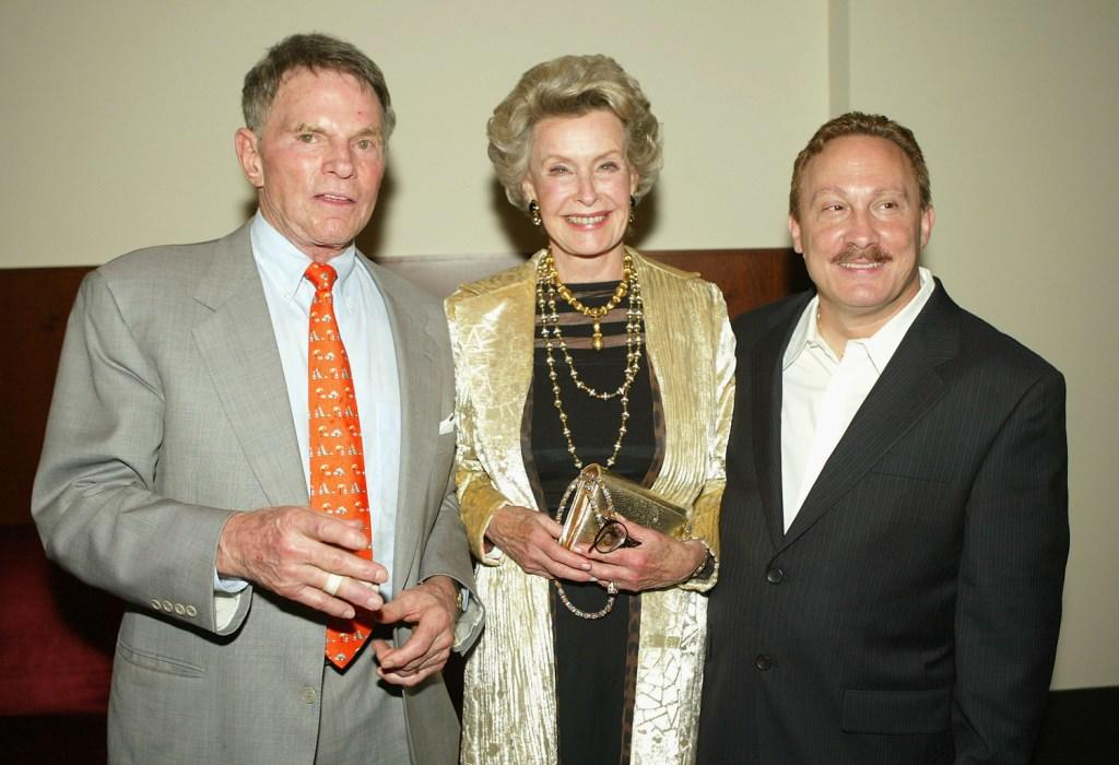 Dina Merrill, Ted Hartley and Joe Nicolo at the premiere of
