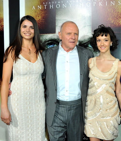 Marija Karan, Sir Anthony Hopkins and Marta Gastini at the California premiere of