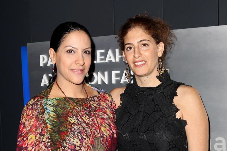 Ruba Blal and Annemarie Jacir at the premiere of