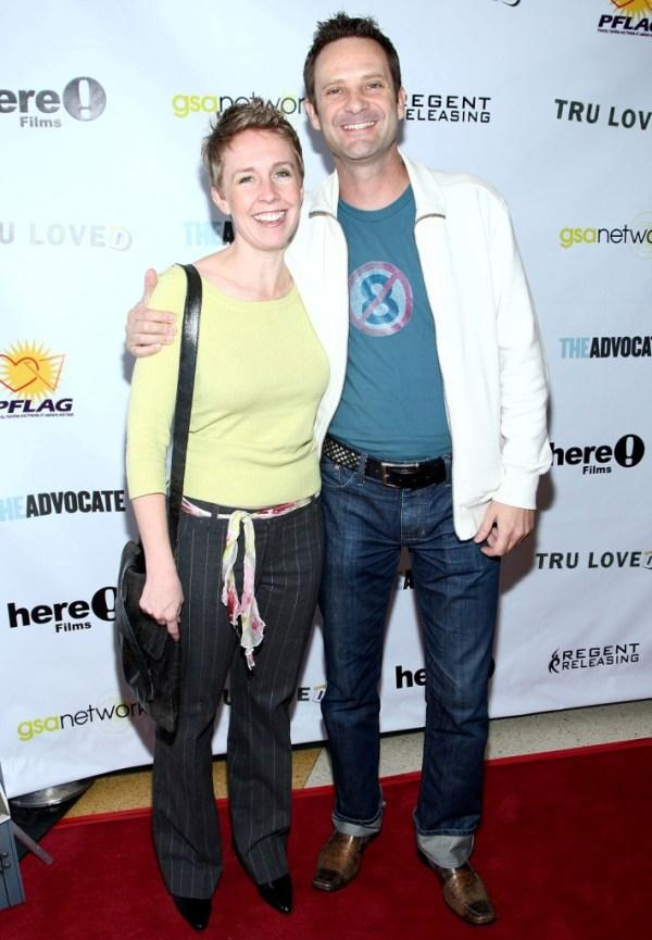 Carolyn Laub and Peter Bedard at the premiere of