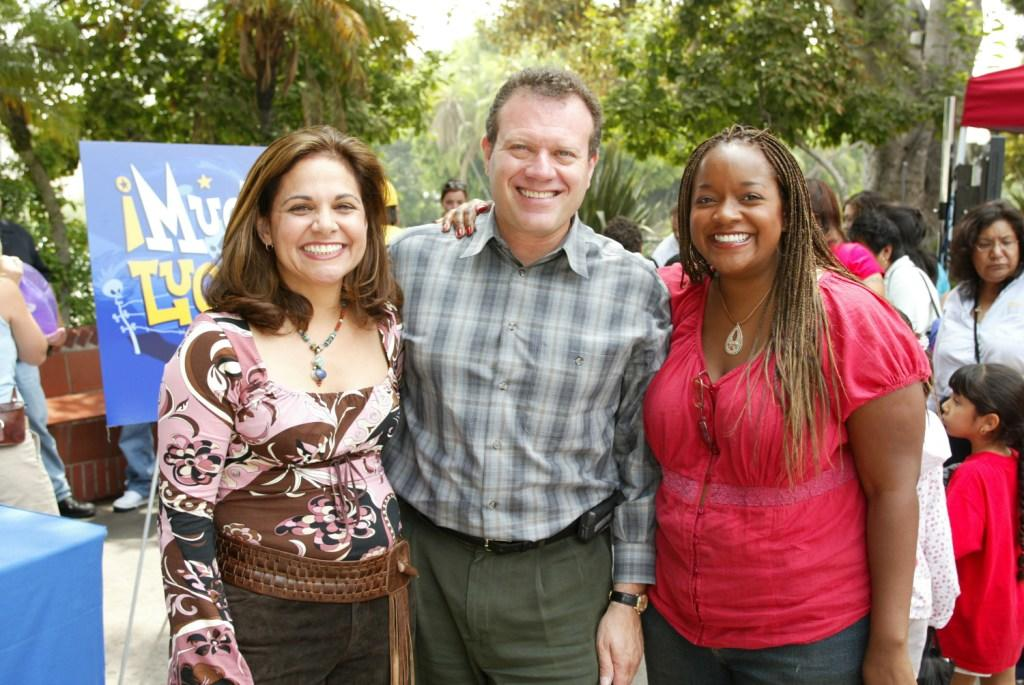 Candi Milo, Kimberly Brooks and Sander D. Schwartz at the Kids' WB!'s