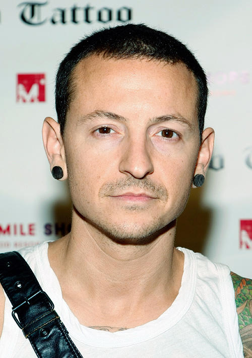Chester Bennington at the autograph signing session during the grand opening of Club Tattoo in Nevada.
