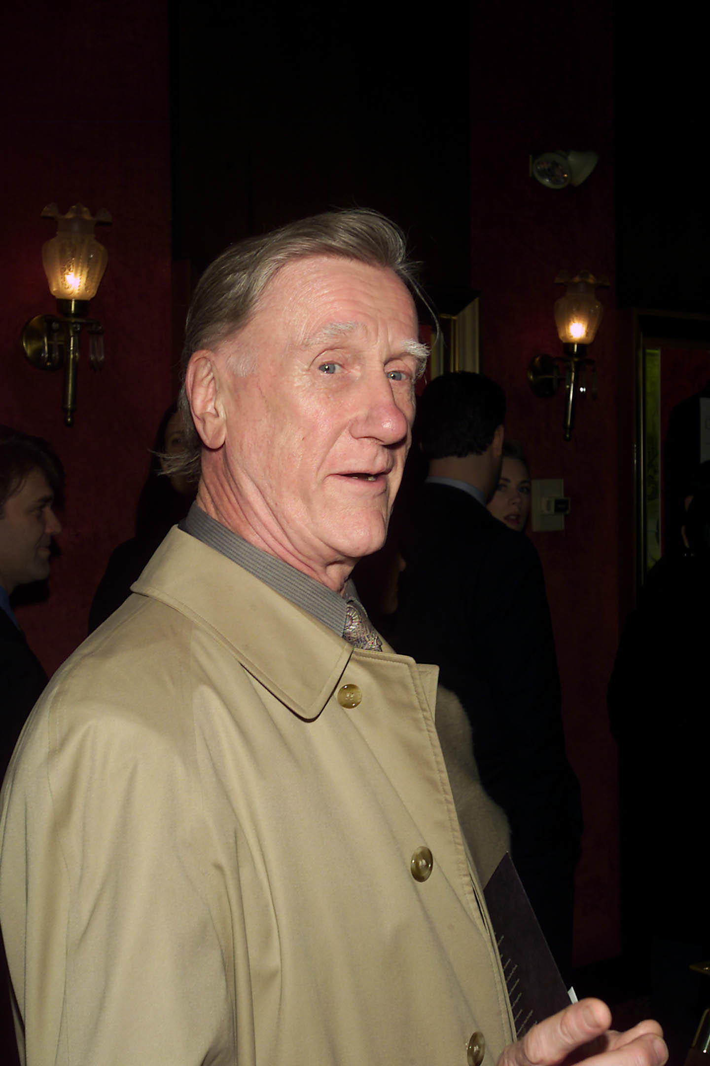 Donald Moffat at the New York premiere of Robert