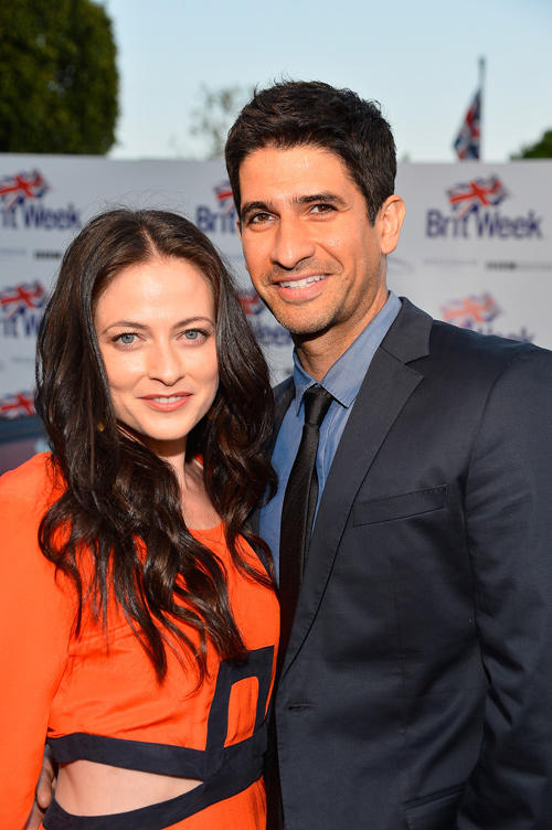 Lara Pulver and Raza Jaffrey at the launch of the Seventh Annual BritWeek Festival