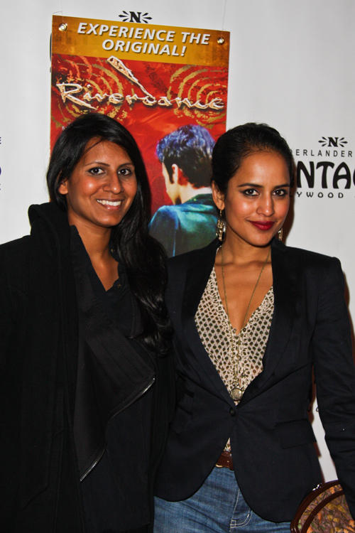 Agam Darshi and guest at the opening night of