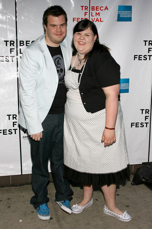 Director Ash Christian and Ashley Fink at the premiere of