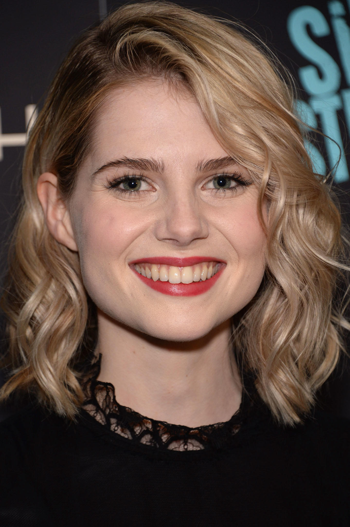 Lucy Boynton at the premiere of