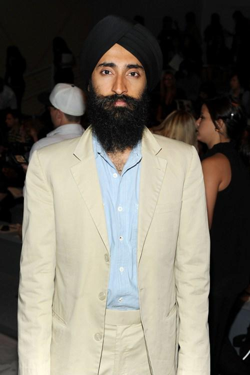 Waris Ahluwalia at the Cynthia Rowley Spring 2011 fashion show during the Mercedes-Benz Fashion Week.