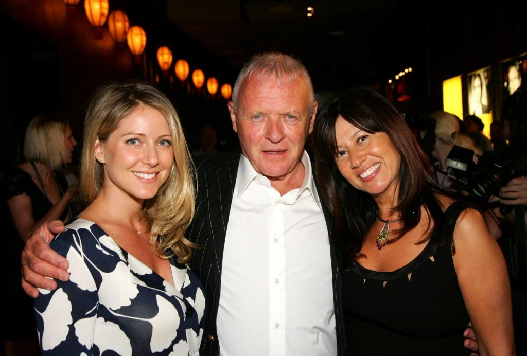 Lisa Pepper, Anthony Hopkins and Stella Arroyave at the 2007 CineVegas Film Festival Awards Reception.