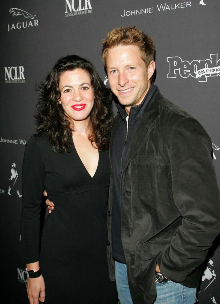 Jacqueline Mazarella and David Monahan at the Latin Grammy party.