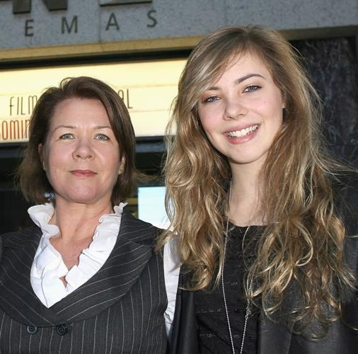 Sarah Woods and Morgan Griffin at the official launch for the Sydney Film Festival.