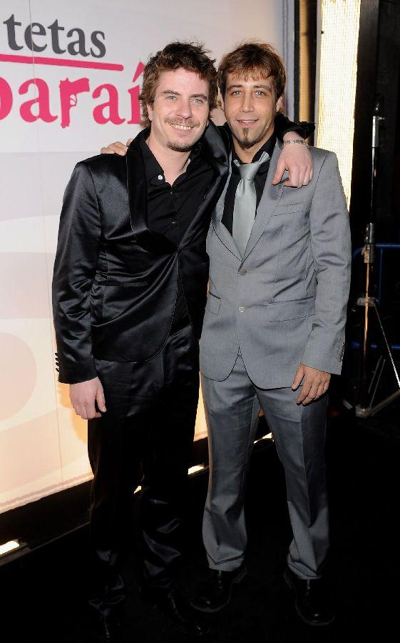 Javier Collado and Andres Herrera at the premiere of